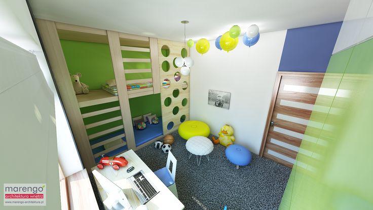 minimalizm w domu w Niepołomicach, pokój chłopca