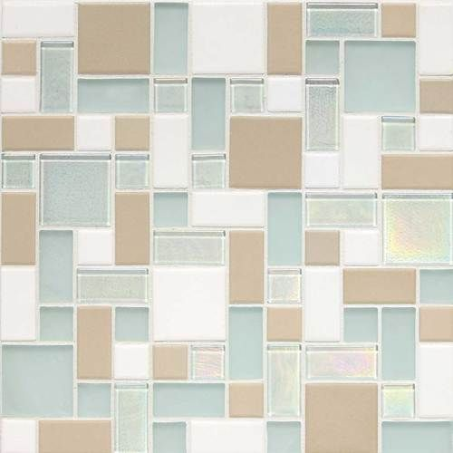 Coastal Keystones Mosaic Tile Trade Wind CK86  Block Random MosaicBlock Random, Glasses Tile, Random Mosaics, Glasses Mosaics, Block Porcelain, Blends Random, Daltile Keystone, Mosaics Tile, Trade Wind