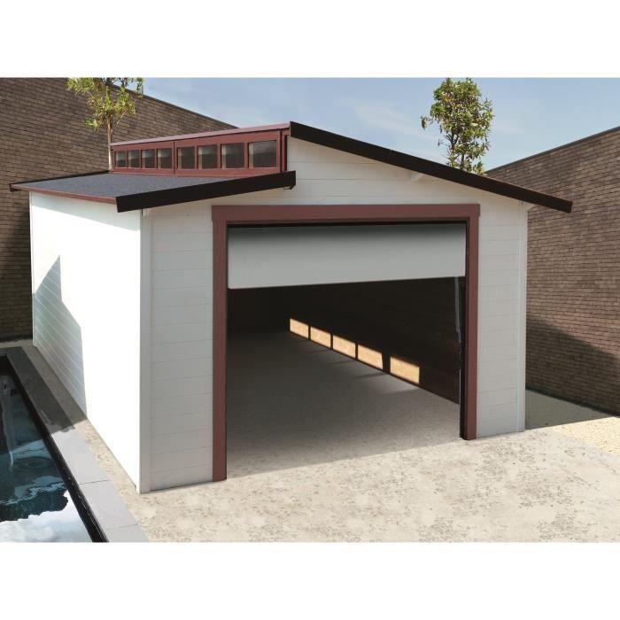 Solid Garage Torino 570x360cm 28mm Cdiscount Abri De Jardin Toiture Et Europe Du Nord