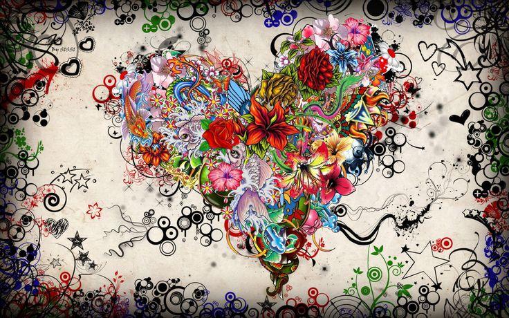 Heart Tattoo Art Wallpaper Abstract Free HD Desktop #6299883774 Wallpaper