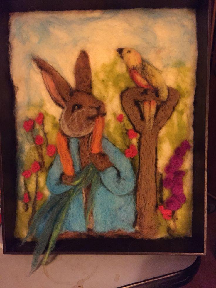 Fieltro agujado Peter rabbit