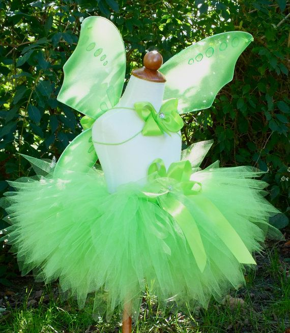 Lime Green Tinkerbell Pixie Tutu Custom by PoshPinkTutus on Etsy