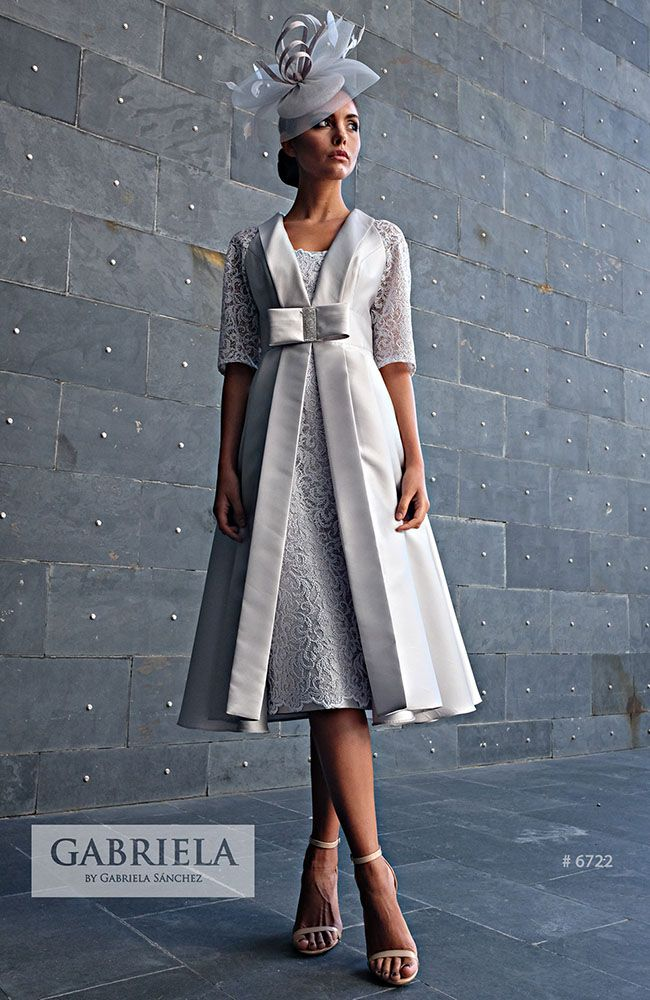 fce99f24f Gabriela Sánchez 6722 occasion wear - Colour Silver - Mother of the bride    groom wedding outfit. Price £TBC.