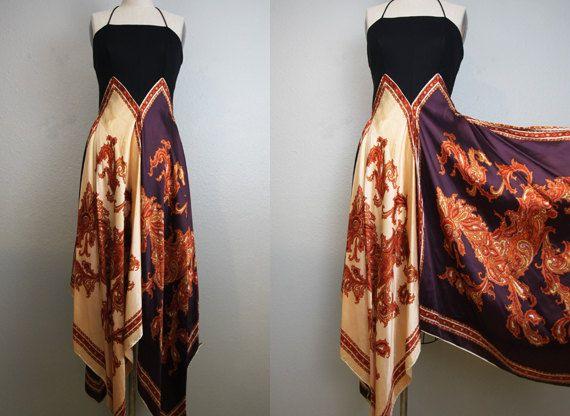 Ok ok so get 4 scarves, sew em together and then onto a black tank top. Bam!