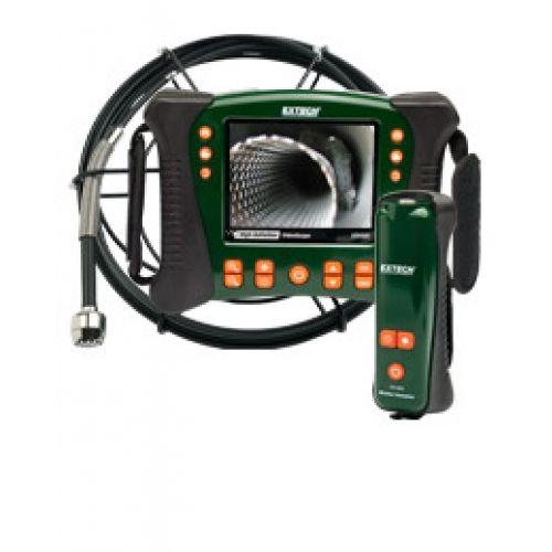 """http://handinstrument.se/inspektionskamera-r322/tradlos-inspektionskamera-vvs-set-30m-sond-53-HDV650W-30G-r34655  Trådlös inspektionskamera VVS-set, 30m sond  Kamerasond med flexibel, glasfiberkärna, 30m vattentät kamera sond  25mm kamerahuvud (60 ° FOV, långt skärpedjup) med inbyggt ljus 12 lysdioder för belysning  Trådlös handenhet / trasmitter med ljusstyrka och kraftkontroll  5,7 """"LCD-färgskärm TFT med hög upplösning 640 x 480 VGA-upplösning  Robust olje / kemikaliebeständig..."""