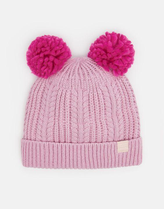 60e083675a8 Joules UK Ailsa Girls Double pom Hat DUSK PINK