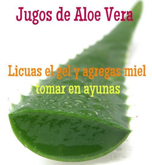 Excelente!!! Jugos de Aloe Vera para cicatrizar las úlceras estomacales.