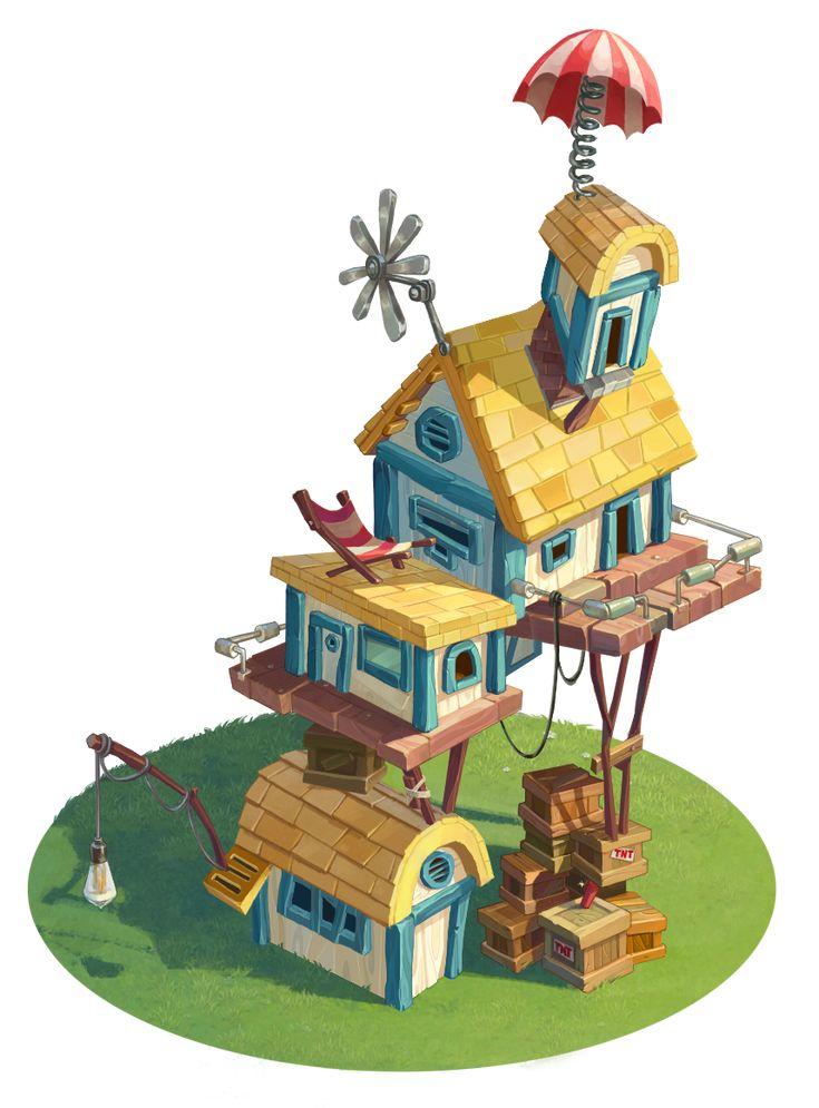Piggy's house on Behance