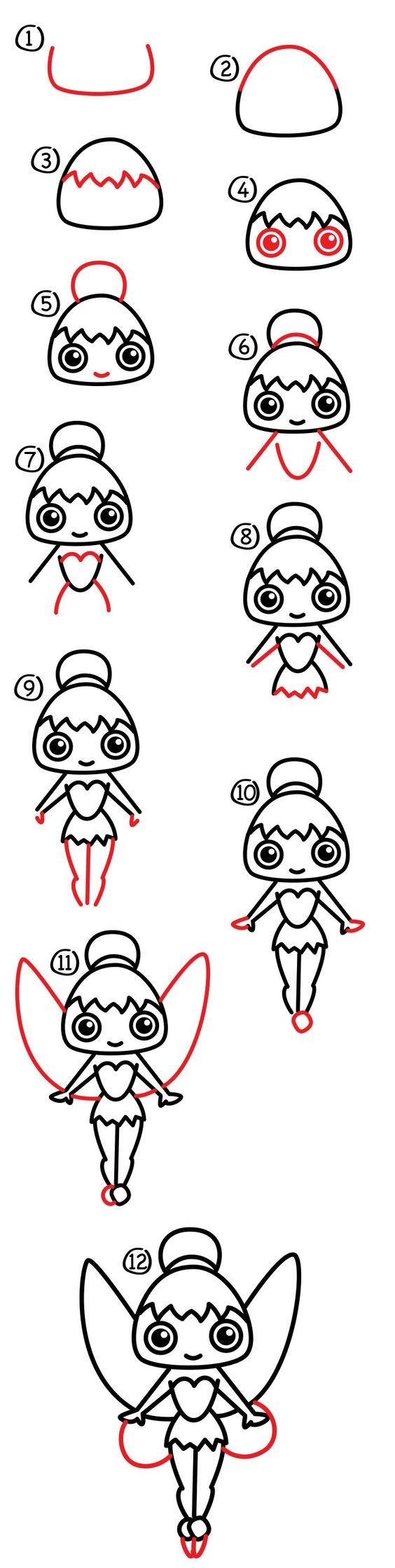 Learn how to draw cartoon Tinkerbell. Have you ever visited Disney's fairy…