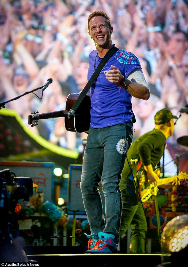 Standing out: He wore funky trainers which helped him put on a lively performance