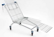 Sun Lounger Is A Modified Shopping Cart You Can Chill On