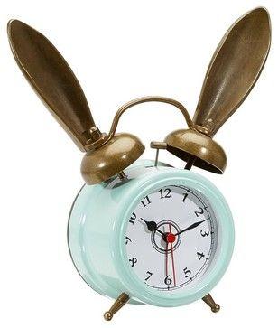 The Emily + Meritt Bunny Alarm Clock, Sky Blue eclectic-clocks