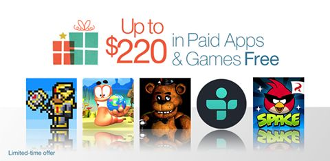 Amazon Appstore giving away $220 worth of 40 Paid Apps and Games for Free.