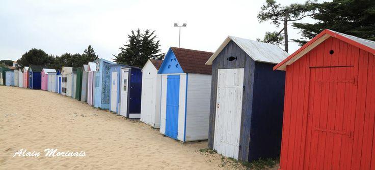 Cabines de plage, St Denis d'Oléron.