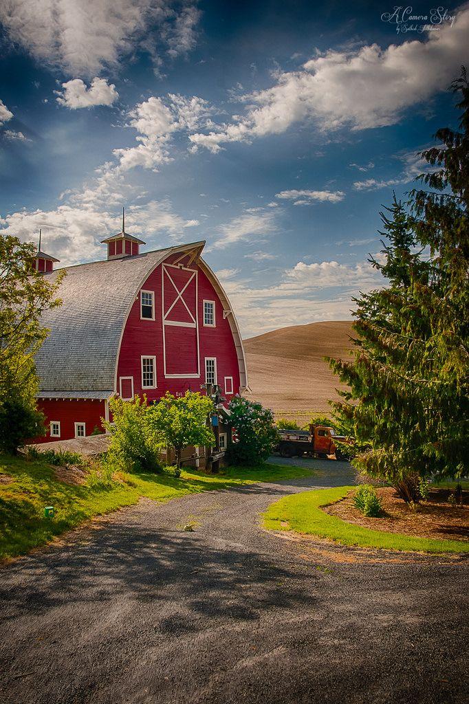 ~~Red barn of Palouse   Colfax, Washington   by satosphere~~