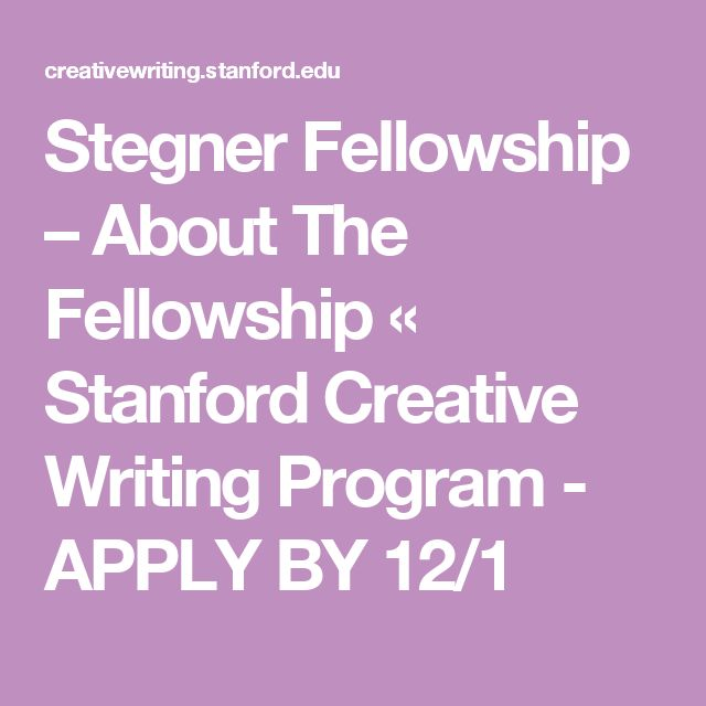 Stanford mfa creative writing kong university