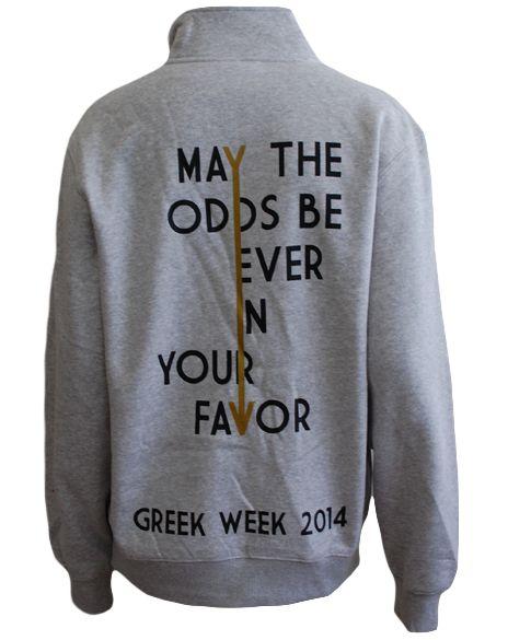 Greek Week Hunger Games Pullover by Adam Block Design   Custom Greek Apparel & Sorority Clothes   www.adamblockdesign.com