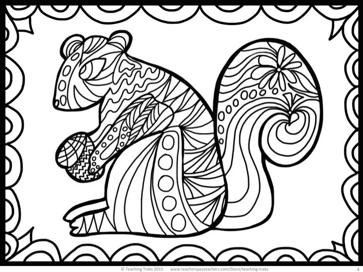 coloring pages fall animals images - photo#39