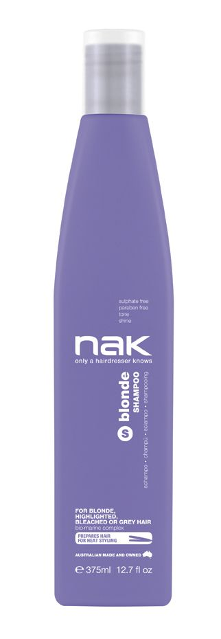 nak blonde shampoo / designed for blonde, highlighted, chemically lightened or grey hair #sulphatefree #parabenfree #tone #shine