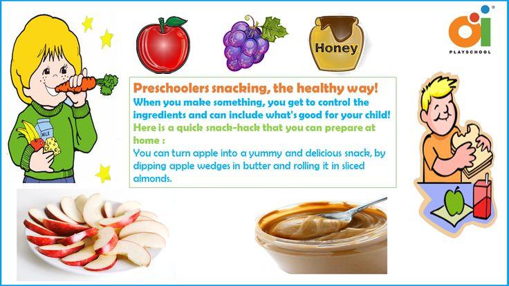 Preschoolers Snacking, the healthy way.