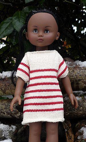Robe marinière tricotée - explications