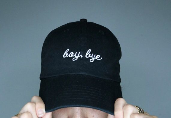 BOY, BYE. 6 panel unstructured cap. strap and brass buckle adjustable. 100%…