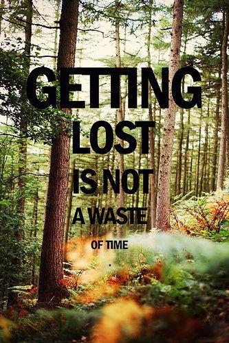 """""""Perdersi non è una perdita di tempo""""  Escursionismo.it"""