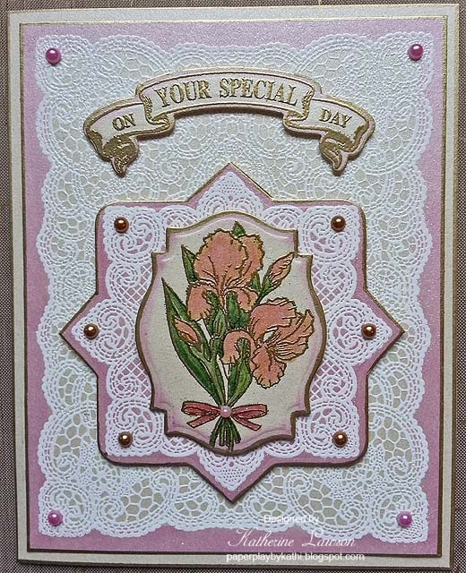 Paper Play by Kathi: JustRite Lace and Iris Card