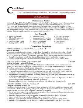Professional Resume Cover Letter Sample | Medical Assistant Professional Resume Sample | Design Resumes