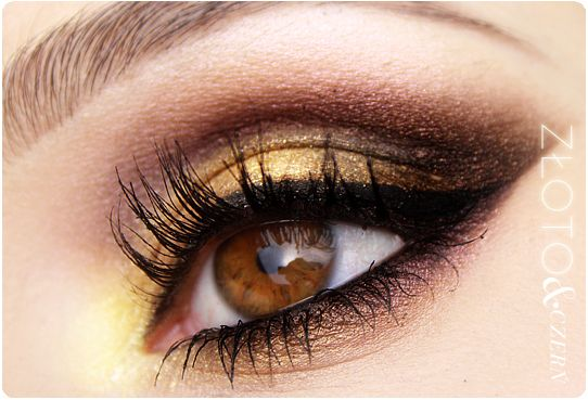 Alina Rose Makeup Blog: Arabic make-up gold & black