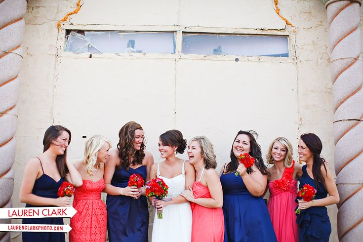 Navy And Coral Wedding Colors: Navy And Coral Wedding Color Ideas