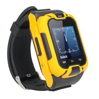 Smart Watch, Mobile Watch Phone with Keypad , 1.44 Inch, LCD Screen, Yellow