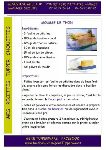 Mousse thon