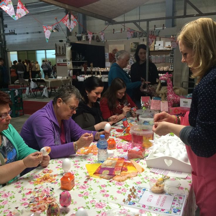 Décopatch workshop bij Atelier LaZoe tijdens de Creatieve Hobby- en Handwerkdagen