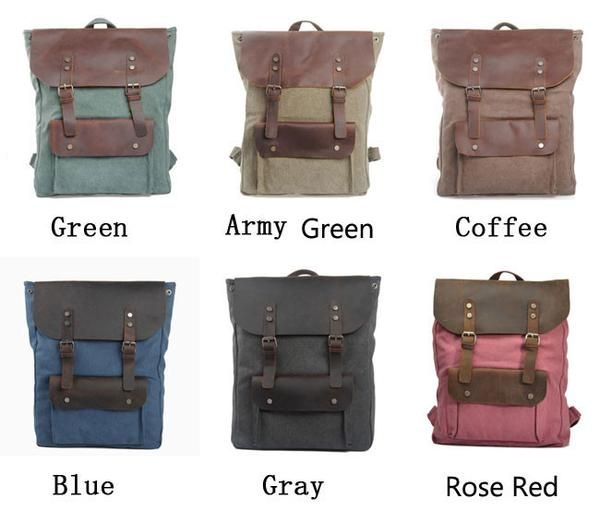 """Color:Rose Red / Coffee / Blue / Green /Gray / Army Green Material:canvas Size:big:45CM(17.71"""") * 33CM(12.99"""") * 10CM(3.94"""") small:36CM(14.17"""") * 28CM(11.02"""") *"""