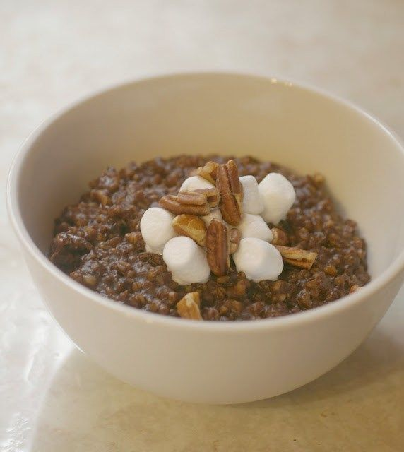 My mother used to make chocolate oatmeal when we were little. Yes, my mom who would never buy cereal like Cookie Crisp or Count Chocula, would make us chocolate oatmeal for breakfast. On those days…