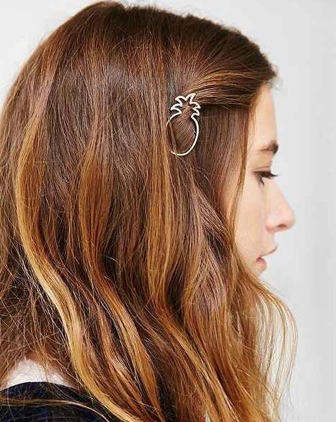 Горячая новинка позолоченный sweet-сердца ананас шпилька hairwear лучший подарок для девушки женщин HA60