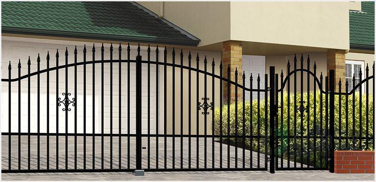 Ogrodzenie Elizabeth 2 to klasyczne ogrodzenie zamknięte w łukowym kształcie, ozdobione kwiatowym wzorem.