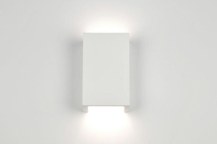 wandlamp 71352: modern, keramiek, wit, mat, rechthoekig ...