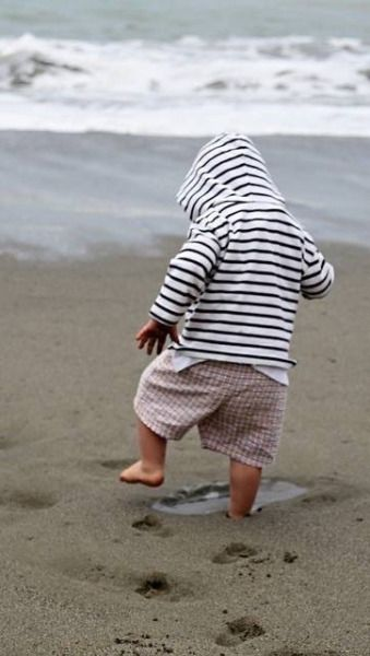 little one at the seashore.