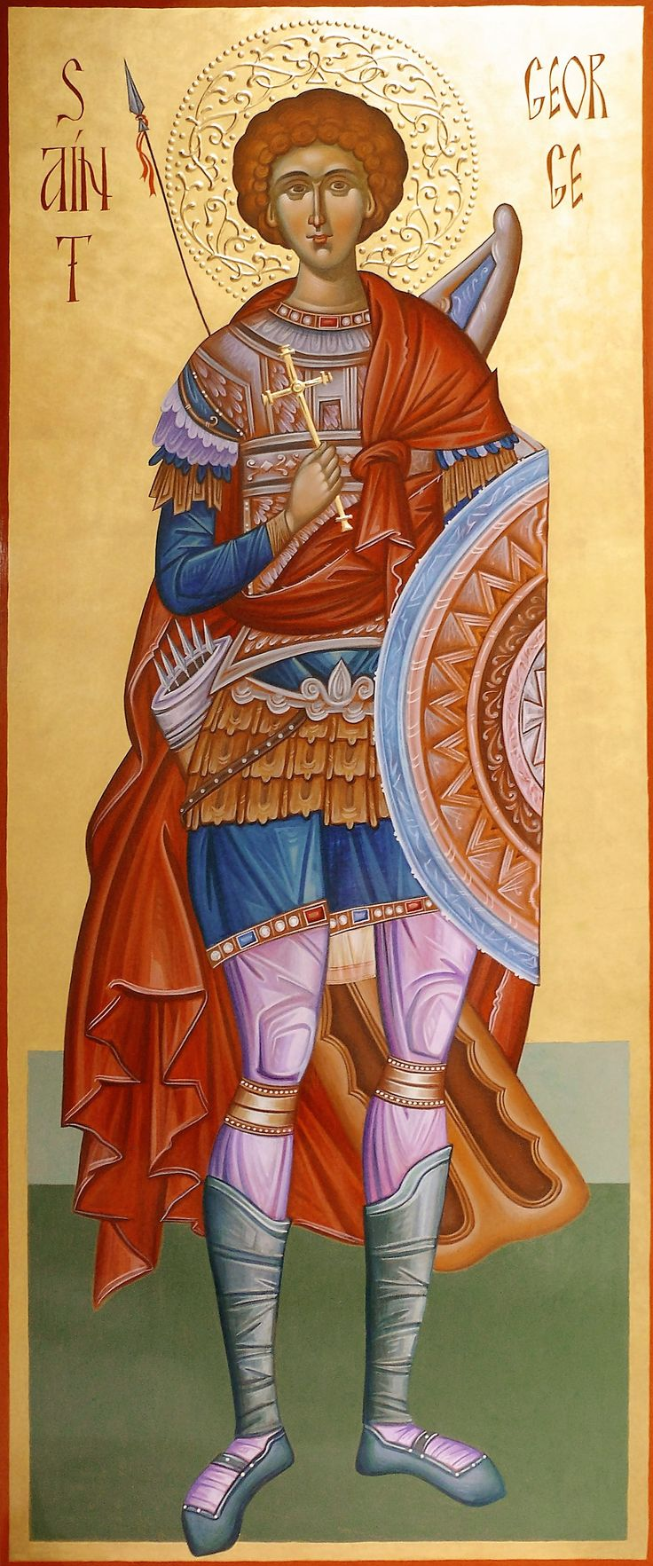 St. George the Great-Martyr hand painted orthodox icon by Georgi Chimev
