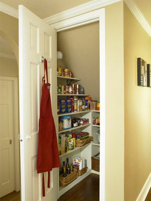 Great use of an odd closet