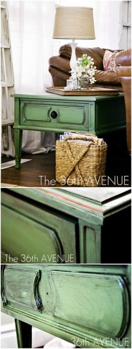 Nice green and tutorial for using an antiquing glaze.
