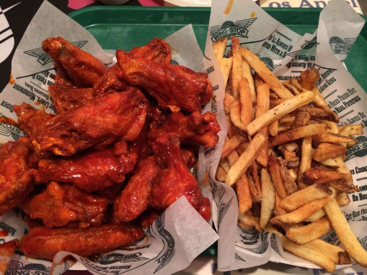 Wing Stop original hot wing and seasoned fries 043014