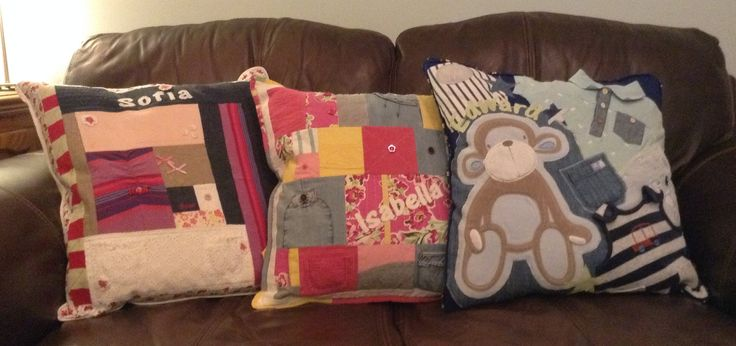 Memory cushion from baby clothes.