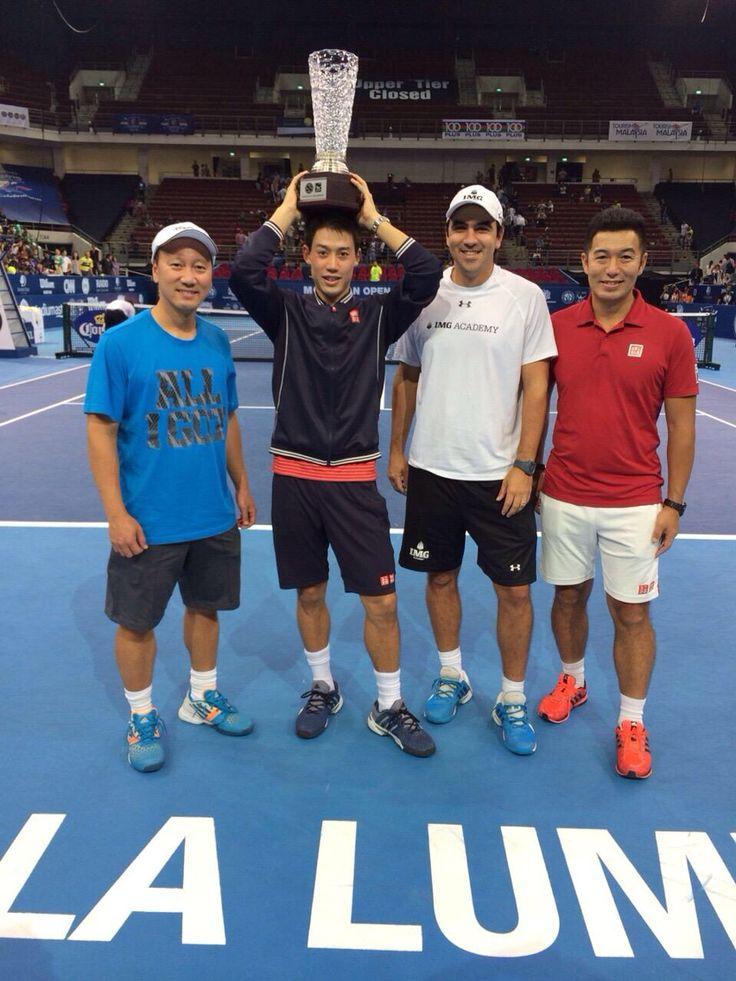 Kei Nishikori & his team #MalaysianOpen2014