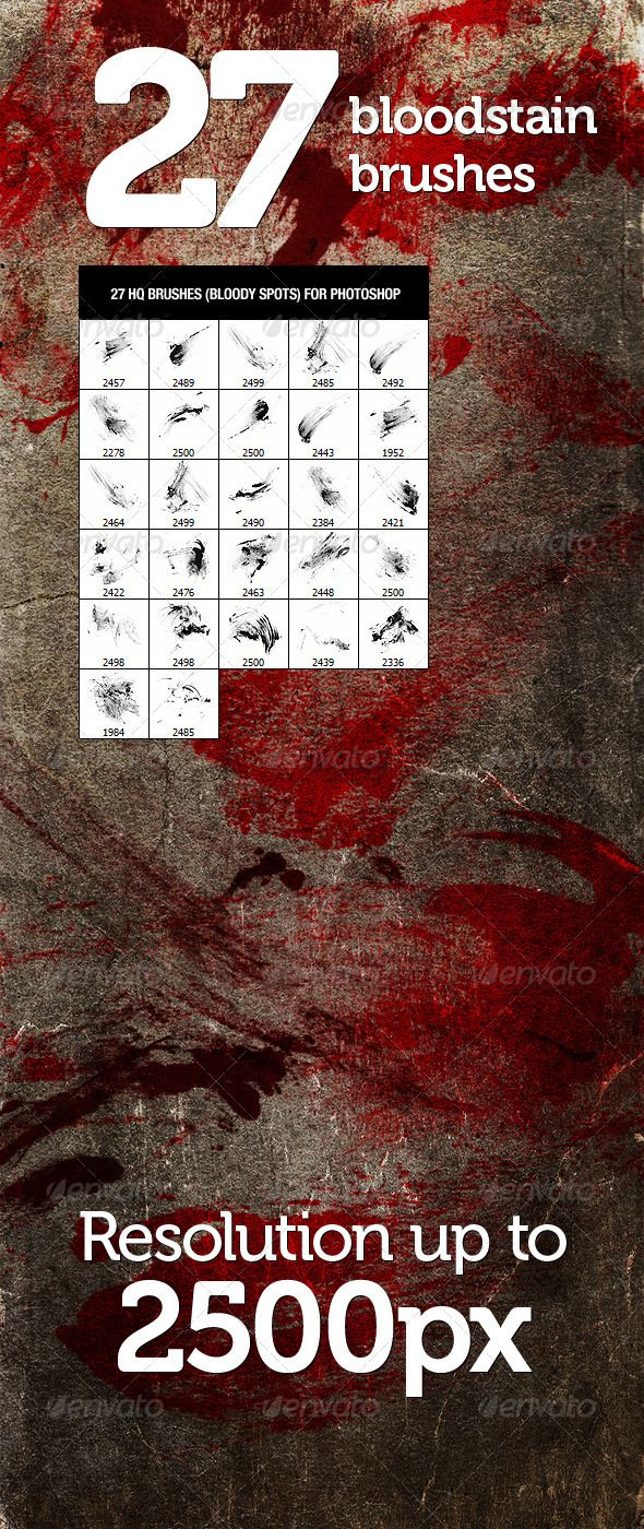 12 best add ons images on pinterest font logo typography and fonts 27 bloodstain photoshop brushes graphicriver 27 high resolution bloody spots bloodstains brushes ccuart Image collections