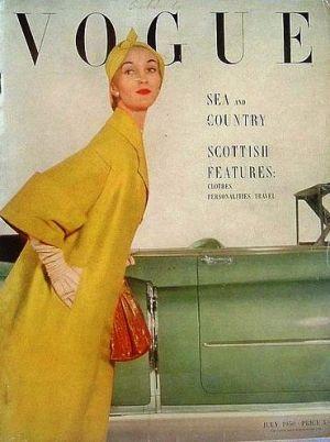 Vintage Vogue magazine covers - mylusciouslife.com - Vintage Vogue UK July 1950.jpg