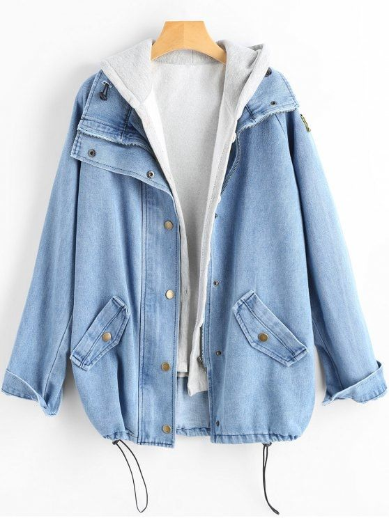 83e34511f Button Up Denim Jacket and Hooded Vest in 2019