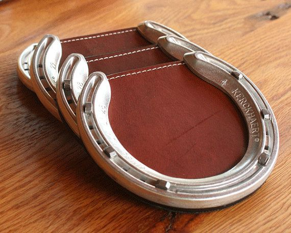 Horseshoe Crafts | Leather Horseshoe Coaster | DIY & Crafts